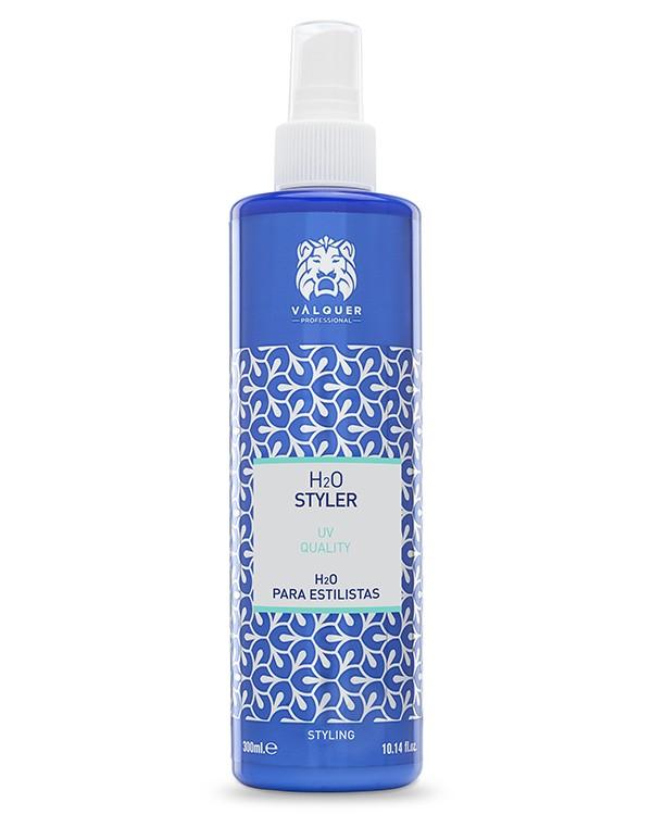 H2O Agua Para Estilistas Calidad UV. Agua De Peinado - 300 Ml. Válquer